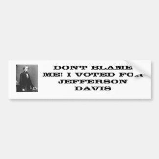 Jefferson Davis Bumper Sticker