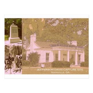 Jefferson Davis Historic Capture Site - Irwinville Postcard