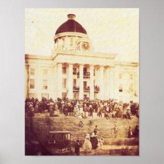 Jefferson Davis Inaugural Poster