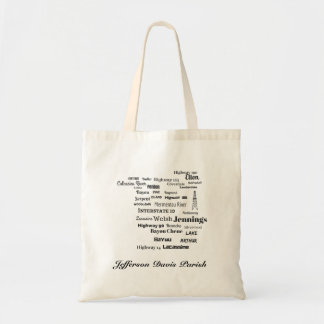 Jefferson Davis Parish Cajun Louisiana Tote Bag