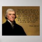 Jefferson God and Liberty Poster