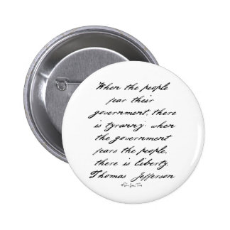 Jefferson Liberty 2 Inch Round Button
