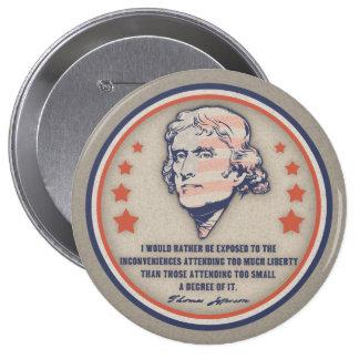Jefferson Liberty II 4 Inch Round Button