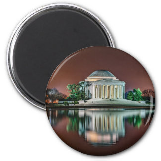 Jefferson Memorial at Night 2 Inch Round Magnet
