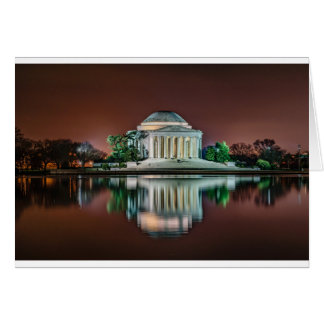 Jefferson Memorial at Night Card