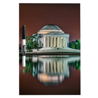 Jefferson Memorial at Night Dry-Erase Whiteboards