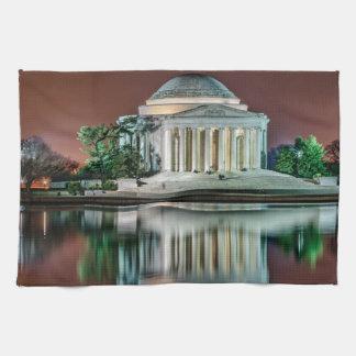 Jefferson Memorial at Night Hand Towel