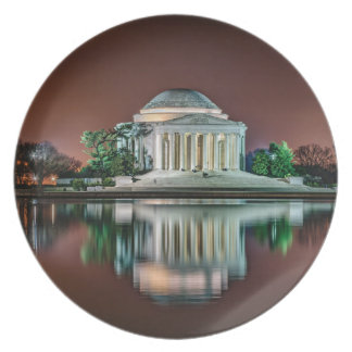 Jefferson Memorial at Night Party Plate