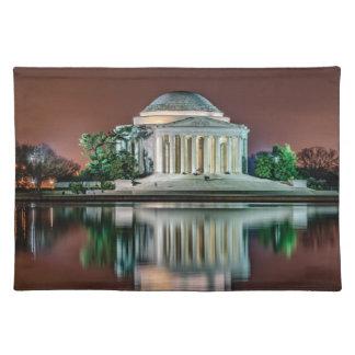 Jefferson Memorial at Night Place Mats