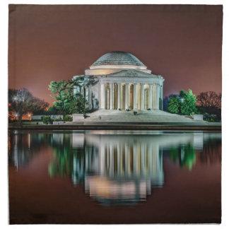 Jefferson Memorial at Night Printed Napkins