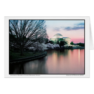 Jefferson Memorial- Cherry Blossoms Card