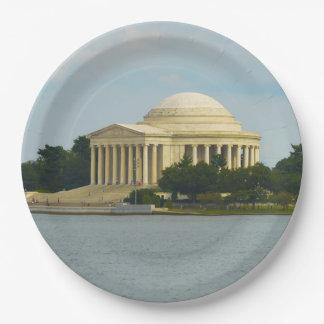 Jefferson Memorial in Washington DC 9 Inch Paper Plate