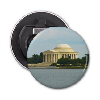 Jefferson Memorial in Washington DC Button Bottle Opener