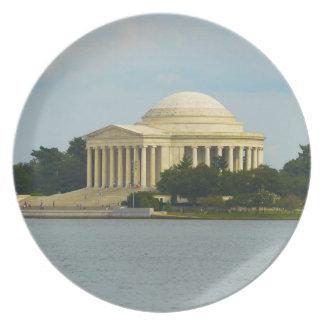 Jefferson Memorial in Washington DC Party Plate