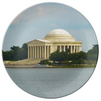 Jefferson Memorial in Washington DC Porcelain Plates