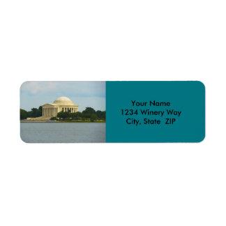 Jefferson Memorial in Washington DC Return Address Label