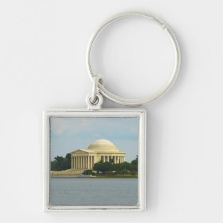 Jefferson Memorial in Washington DC Silver-Colored Square Keychain