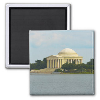 Jefferson Memorial in Washington DC Square Magnet