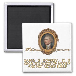 Jefferson on Paper Money Magnet