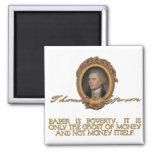 Jefferson on Paper Money Refrigerator Magnet