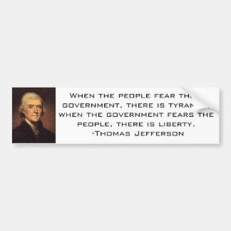 Jefferson Quote 2 Bumper Sticker