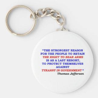 jefferson quote basic round button keychain