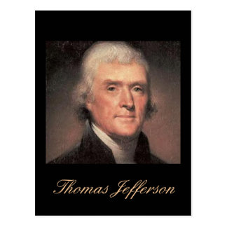 Jefferson quote Postcard