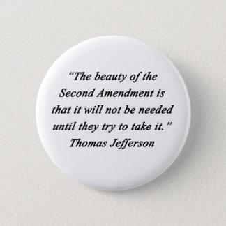 Jefferson - Second Amendment 2 Inch Round Button