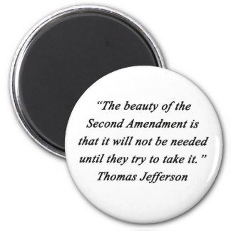 Jefferson - Second Amendment 2 Inch Round Magnet