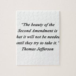 Jefferson - Second Amendment Jigsaw Puzzle