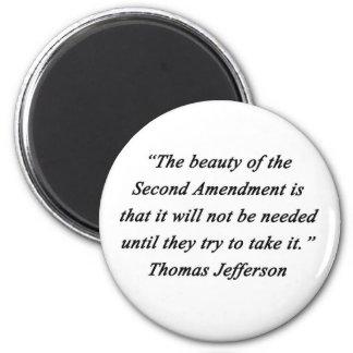 Jefferson - Second Amendment Magnet