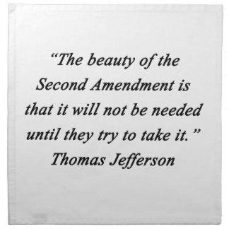Jefferson - Second Amendment Napkins
