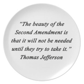 Jefferson - Second Amendment Party Plate