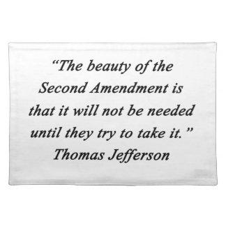 Jefferson - Second Amendment Place Mats