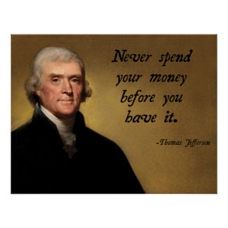 Jefferson Spending Quote Poster