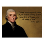 Jefferson Tyranny Quote Poster