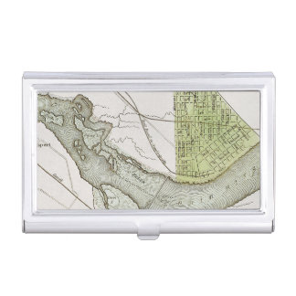 JEFFERSONVILLE, INDIANA: MAP BUSINESS CARD CASES