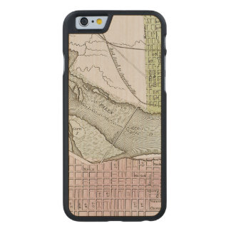 JEFFERSONVILLE, INDIANA: MAP CARVED® MAPLE iPhone 6 CASE