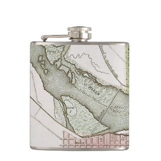 JEFFERSONVILLE, INDIANA: MAP FLASKS