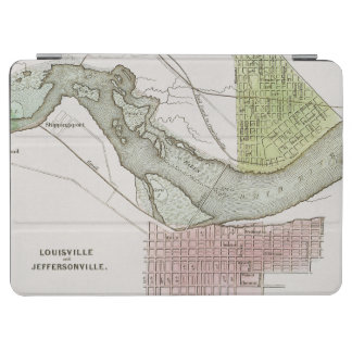 JEFFERSONVILLE, INDIANA: MAP iPad AIR COVER