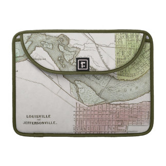 JEFFERSONVILLE, INDIANA: MAP SLEEVES FOR MacBook PRO