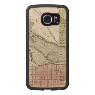 JEFFERSONVILLE, INDIANA: MAP WOOD PHONE CASE