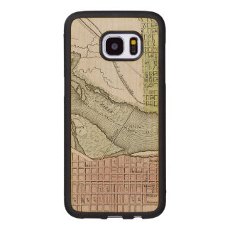 JEFFERSONVILLE, INDIANA: MAP WOOD SAMSUNG GALAXY S7 EDGE CASE