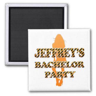 Jeffrey's Bachelor Party Square Magnet