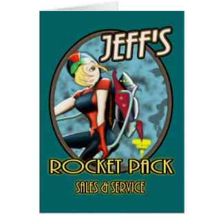 Jeff's Rocket Pack Sales & Service Card