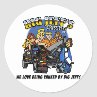 jeff's towing sticker