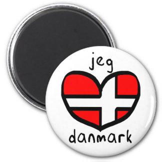 Jeg Elsker Danmark Magnet