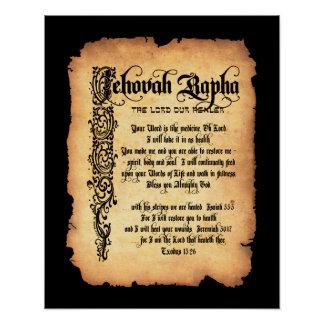 Jehovah Rapha, Lord our Healer: Names of God Poster