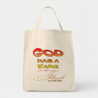 Jehovah's Witness Grocery Tote Bag
