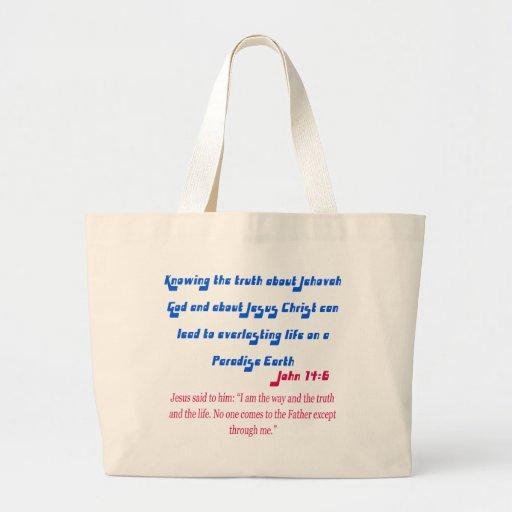 Jehovah's Witness John14-6 Tote Bag